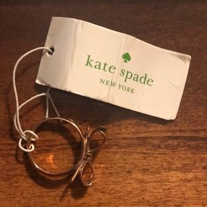 "NWT Kate Spade ""Love Notes"" rose gold Bow ring"